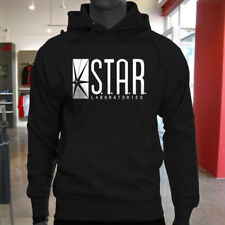 The Flash DC Barry Allen Laboratories Star Labs Mens Black Hoodie