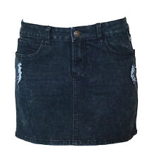 UNIT RIDERS MX FMX New Ladies Stretch Denim Skirt Grey Size (10)
