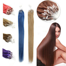 100S Loop Micro Ring Bead Tip 100% Remy Human Hair Extensions 18Inch More Colors