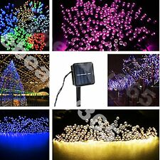 New 200 Led Solar Power Fairy Light Strip String Party Xmas Garden Outdoor Lamp