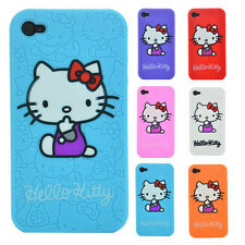 Cute Hello Kitty Silicon Case Bumper Cover Skin Etui For Apple iPhone SE
