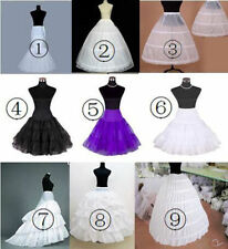 New Styles White Bridal Crinoline Wedding Dress Petticoat Underskirt Optional