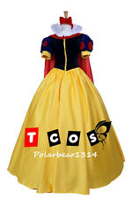 Adult Pincess Snow White Dress with cape and hair band accept custom order