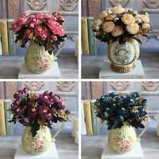 Hot 6 Branches Autumn Artificial Fake Peony Flower Home Hotel Wedding Decor