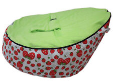 NewStrawberry Canvas Baby Baby Bean Bag Snuggle Bed 2 Upper Layers Without Beans