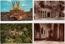LINCOLN CATHEDRAL POSTCARD ASSORTMENT CHOIR SCREEN NAVE FROM CASTLE