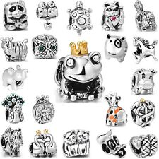 Fashion Brand Animals 925 Sterling Silver Charm Bead Fit 3mm European Bracelet