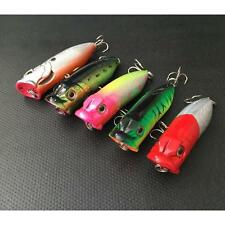 7CM Fishing Lures Bass Topwater Popper Minnow Hard Bait Tackle