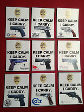 3# KEEP CALM, I CARRY `CONCEALED WEAPONS PERMIT` MAGNETIC SIGN, 4  x 5 inches