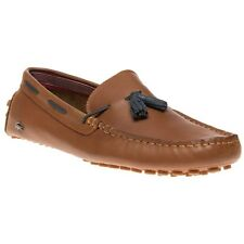 New Mens Lacoste Tan Concours Leather Shoes Loafers And Slip Ons On