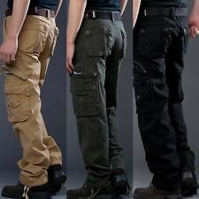 Mens Casual Military Army Cargo Camo Combat Work Pants Trousers 3 Colors