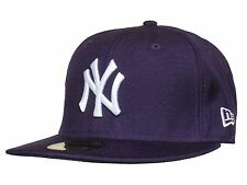 New Era 59 Fifty MLB Basic Neyyan Purple And White Fitted Cap
