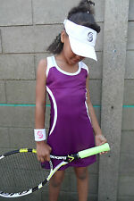 Girls Purple Tennis Dress Netball Badminton Hockey age 5-14 year old