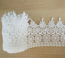 1-10M Vintage White Embroidered Lace Edge Trim Crochet Applique DIY Sewing Craft