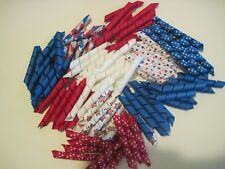 Korker Ribbon~100 precut pieces~heat sealed~ 4 OF JULY~you pick the size
