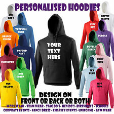 Personalised Hoodie Image Stag Hen Party Custom Design  Text Holiday Tour Great