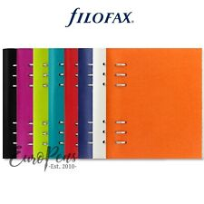 "Filofax ""Clipbook"" Leather-Look A5 Refillable Notebook - Choose Colour"