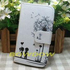 Dandelion Wallet Credit Card Slots Holder Stand Flip Case Cover for LG phone