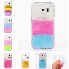 Bling Glitter Soft Silicone Rubber TPU Case Cover For Samusng S6 iPhone 5 6 Plus