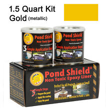 Pond Armor Metalic Gold Silver Copper Liner Paint 1.5qt SOLD AS IS LIQUIDATION