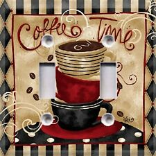 Coffee Time Light Switch Cover~ Kitchen Decor~ Choose Your Plate Style