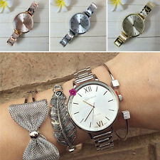 New Geneva Vogue Women's Mens Unisex Vintage Stainless Steel Dress Quartz Watch