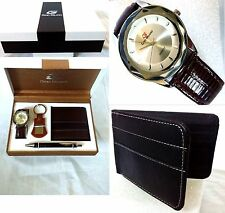 *Back To School* Classic Nice Bling Watch Gift Box Set Wallet Keychain Pen *USA*
