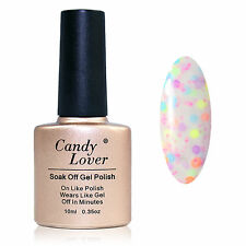 Candy Lover Cheese Gel Polish Nail Art Soak Off Glitter Lacquer  Color New 10ml