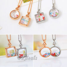 2015 Living Memory Floating Glass Round Square Locket Charm Pendant Necklace
