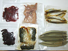 PRESERVED SEA PIKE BAIT SQUID WHITE BAIT RAGWORM LUG SANDEEL MACKEREL SEA FISHIN