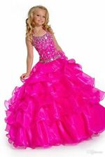 2015 Elegant Formal Pageant Flower Girls Dress Wedding Princess Party Gown Stock