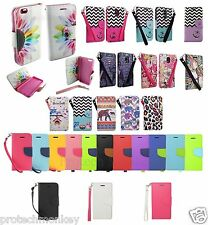 Alcatel Wallet Flip Credit Card Stand Case Cell Phone Cover + Screen Protector