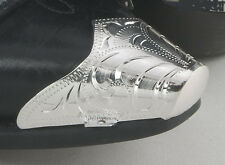 Western Engraved Silver Snip Toe Tips OR Silver Heel Guards for Cowboy Boots