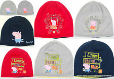 PEPPA PIG BEANIE George Pig Various Designs, 3 Colours One Size Cotton Kids NEW