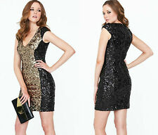 ♥ FRENCH CONNECTION FCUK ♥ rrp £ 175 moonray Sequin Cocktail Crayon Robe SZ 6-16