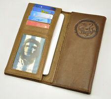 Men Genuine Leather Trifold Long Card Checkbook Holder Wallet Organizer Purse