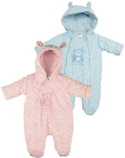 BABYTOWN Baby Girls or Boys Bubble Ski Suit Snow Suit Sleep Suit All In One