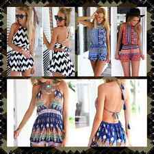 Fashion Women Sexy Jumpsuit Gorgeous Backless Playsuit Shorts Rompers