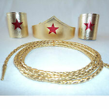 Wonder Woman Costume Tiara - Cuffs - Lasso Choose pieces & Size Super Hero Shiny