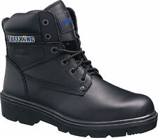 Tuffking 9550 S1P Black Leather Steel Toe Cap Safety Boots Work Boot Footwear