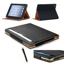 HOT Soft Leather Wallet Smart Case Cover Sleep/Wake Stand for APPLE iPad Stylus
