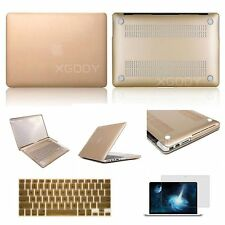 For Apple Macbook Champagne Gold Rubberized case+Keyboard cover+Screen Protector