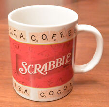 SCRABBLE Coffee Cup Ceramic Mug Cocoa Tea 2002 Hasbro Game Enthusiast AWESOME