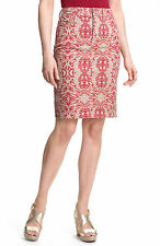 NYDJ Not Your Daughter's Jeans Red Emma Tribal Tiki Print Stretch Twill Skirts