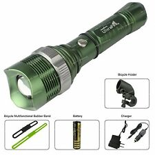 5 Mode 2000lm Zoomable CREE T6 LED Flashlight Torch Light + Battery + Charger