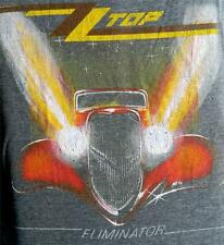 """New! ZZ Top """"Eliminator"""" Distressed Classic Rock Licensed Concert Tour T-Shirt"""