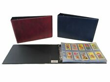 """Luxury Cigarette Card Album to hold 30 """"A"""" size leaves to hold 10 cards per page"""