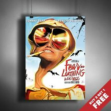 FEAR AND LOATHING IN LAS VEGAS Poster A3 / A4  Classic Movie Art Print Home Deco