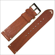 Horween Watch Strap, Watch Band w/ Vintage-Style Honey-Brown Calfskin Leather