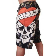 Ed Hardy Love Kills Slowly Board Shorts (Black)